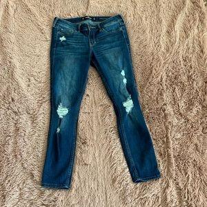 Hollister denim distressed jeans